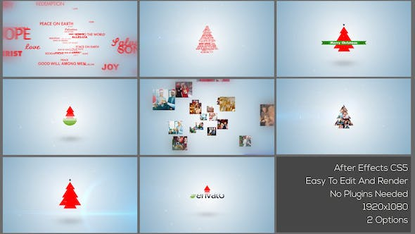Cover Image for Typo & Video Christmas Logo Intro