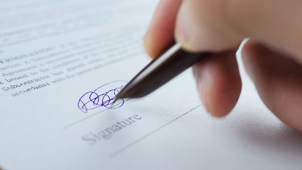 Thumbnail for Signature Contract