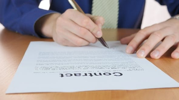 Thumbnail for Signing Contract