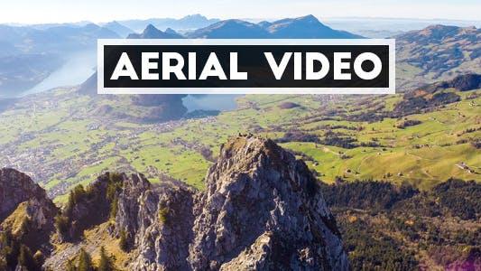 Thumbnail for Aerial Video of Mountain Peak in Switzerland
