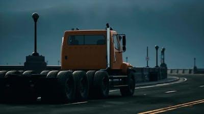 Big Lorry Truck on the Bridge