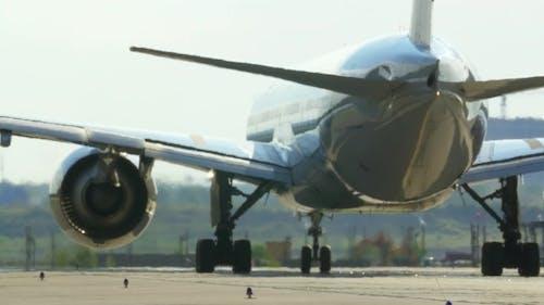 Passenger Jet Plane On The Runway