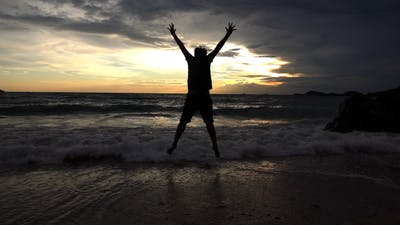 Jumping At Sea