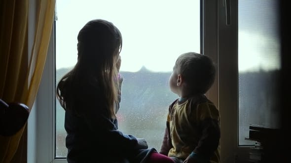 Thumbnail for Children Sitting On The Windowsill
