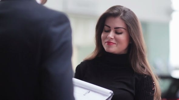 Thumbnail for Girl Listening Attentively To Contract Terms