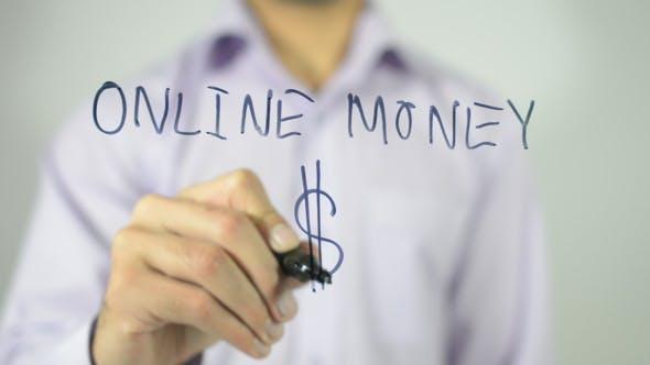 Thumbnail for Online Money, Dollar Sign, Transparent Screen