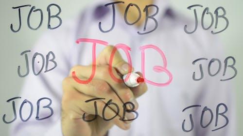 Job, Writing on Transparent Screen