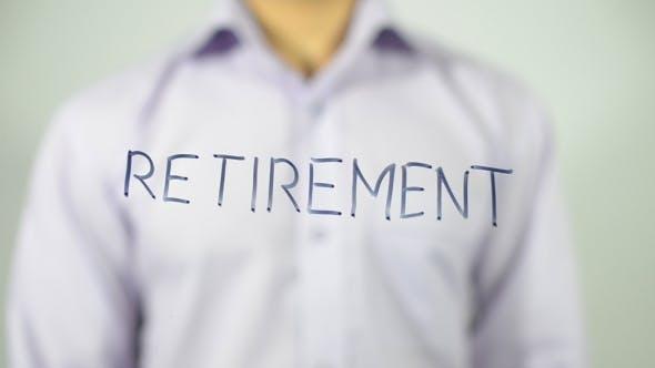 Retirement, Writing on Transparent Screen