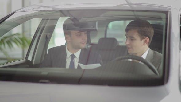 Successful Deal In Car Dealership