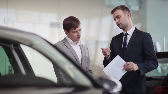 Thumbnail for Salesman Explains The Customer Car Specifications
