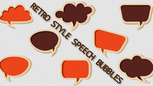 Retro Style Speech Bubbles