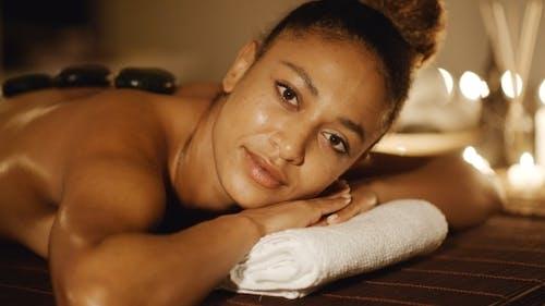Beautiful Black Woman At Spa