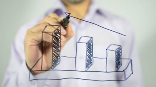 Business Graph, 3D Illustration