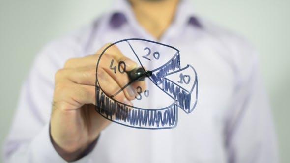 Thumbnail for Business Pie, 3D Illustration