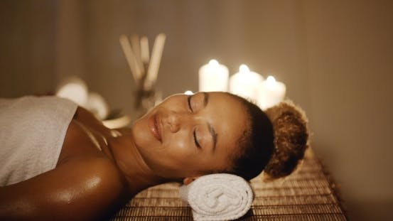 Thumbnail for Woman Relaxing In A Wellness Center