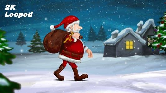 Thumbnail for Walking Santa