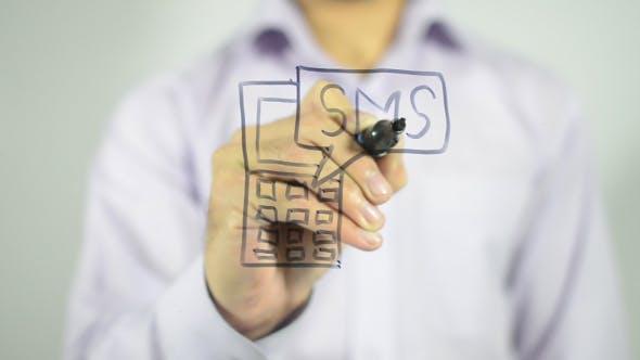 Thumbnail for SMS on Phone, Illustration
