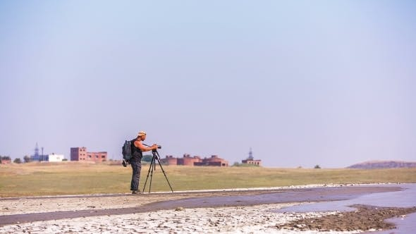 Thumbnail for Cameraman Making Video At Mud Volcano Valley