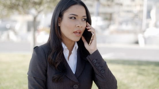 Thumbnail for Young Businesswoman Talking On Her Phone