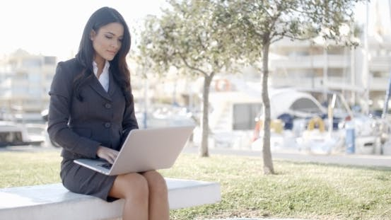 Thumbnail for Business Woman Working In The Park