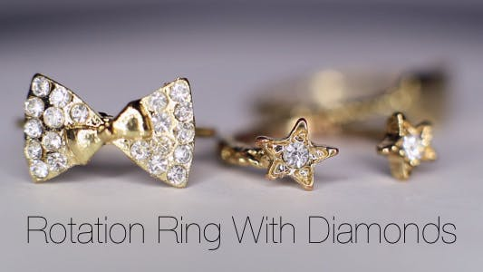 Thumbnail for Rotation Ring With Diamonds