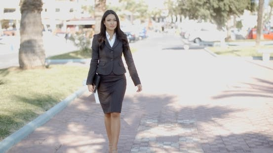 Thumbnail for Business Woman Walking In The Street