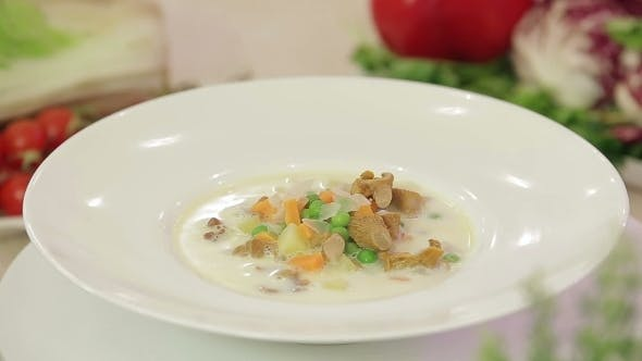 Thumbnail for Mushroom Soup With Vegetables