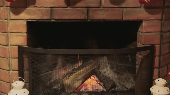 Cover Image for Fireplace And Socks For Gifts