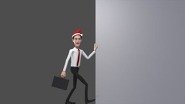 Thumbnail for Businessman Opening Animation - Christmas
