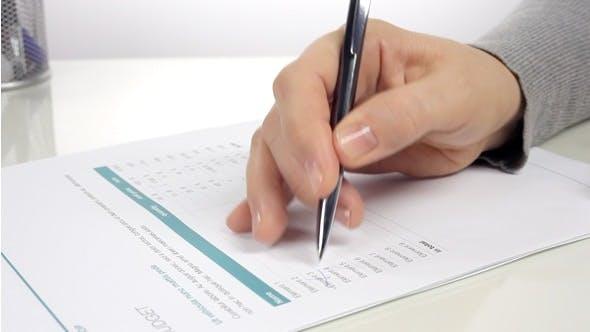 Thumbnail for Businesswomen Analyzes Budget