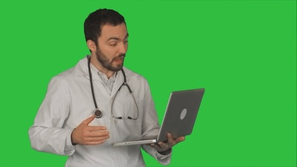 Thumbnail for Doctor Having Video Conference On Laptop With