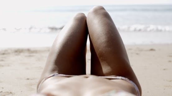 Thumbnail for Beautiful Female Body On The Beach
