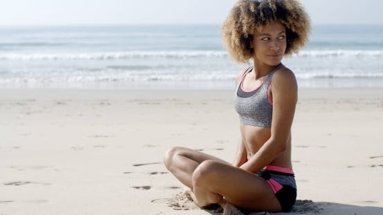 Thumbnail for Young Sporty Girl On The Beach