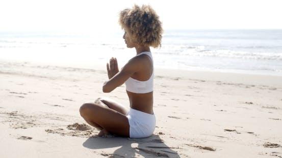 Thumbnail for Woman Meditation On Beach