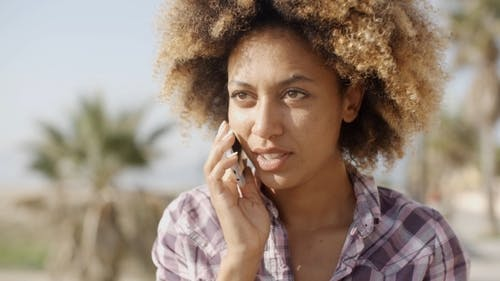 Woman Talking With Mobile Phone