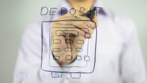 Einzahlung, Secure Money Konzept Illustration