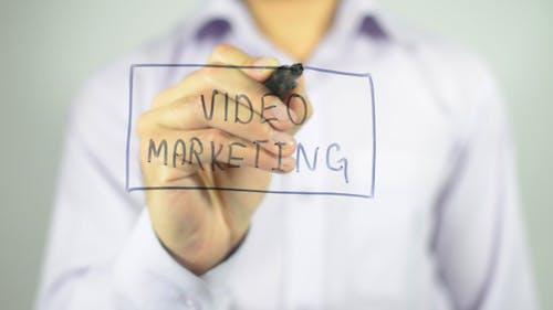 Video Marketing, Writing on Transparent Screen