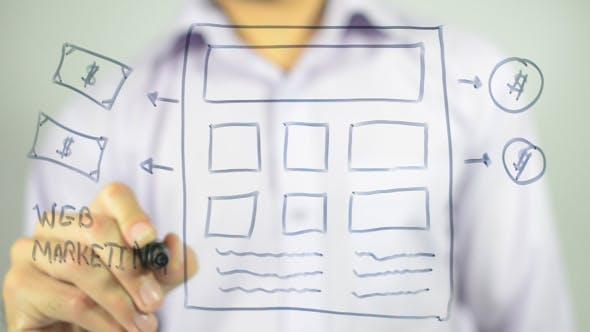 Thumbnail for Web Marketing , Web Page illustration