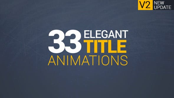 33 Elegant Title Animations