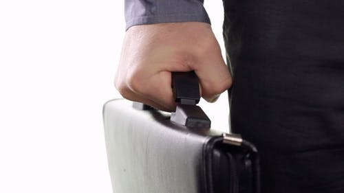 Businessman Squeezes the Handle Portfolio
