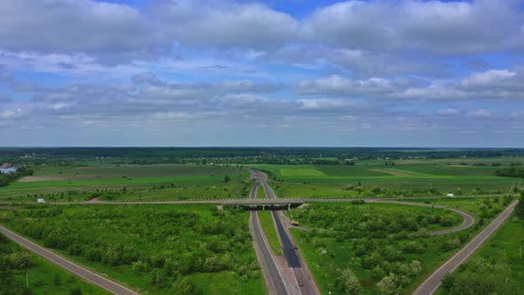 Thumbnail for Aerial View Of Highway Interchange, Ukraine