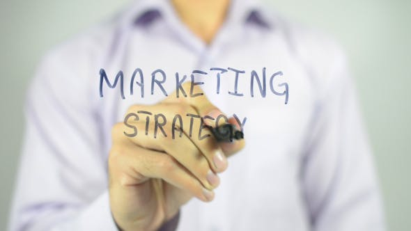 Thumbnail for Marketing Strategy, Writing on Transparent Screen