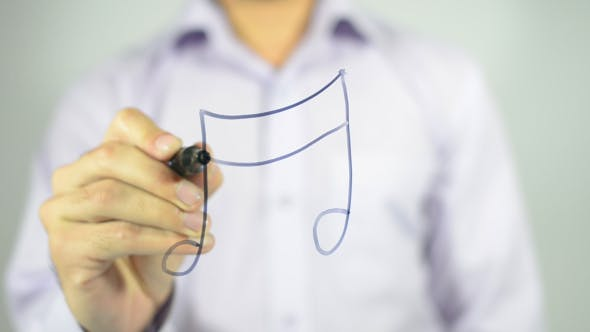 Thumbnail for Music Note, Illustration on Transparent Screen