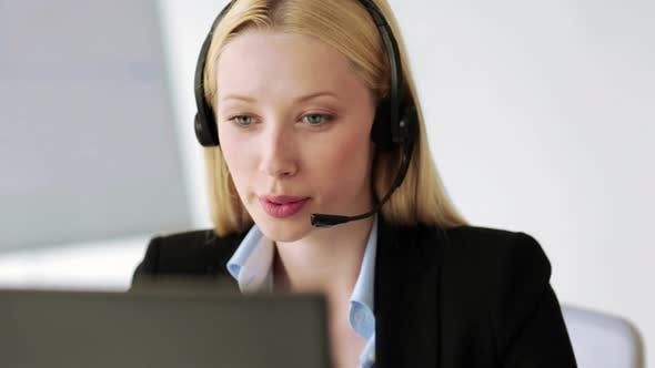 Thumbnail for Attractive Helpline Operator In Office 3