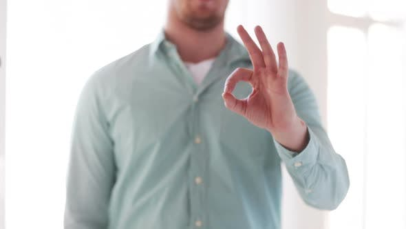 Thumbnail for Man In Shirt Showing Ok-Sign