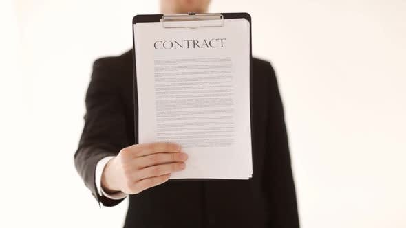 Thumbnail for Man Showing A Contract
