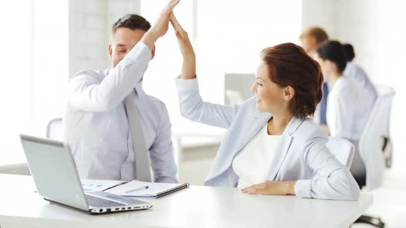 Thumbnail for Business People Making High Five Gesture 1