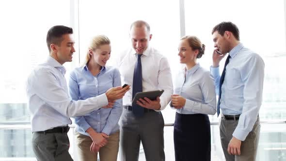 Thumbnail for Business People With Tablet Pc And Smartphones 1
