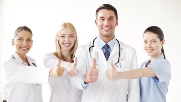Thumbnail for Group Of Doctors With Thumbs Up