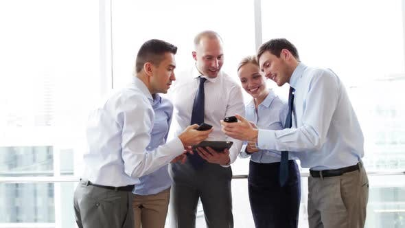 Thumbnail for Business People With Tablet Pc And Smartphones 2